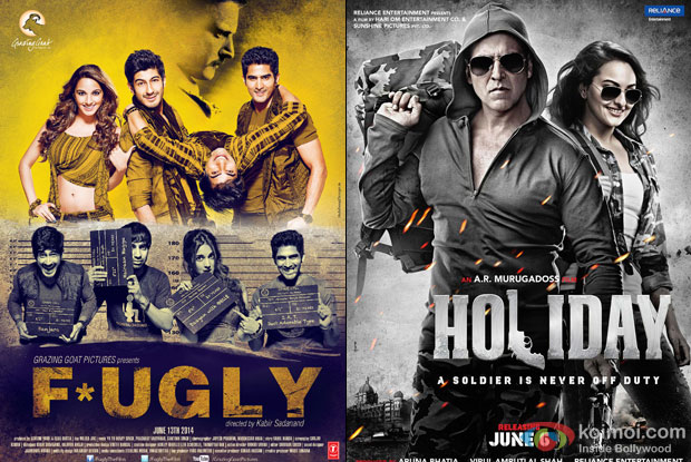 'Fugly' and 'Holiday – A Soldier Is Never Off Duty' Movie Poster