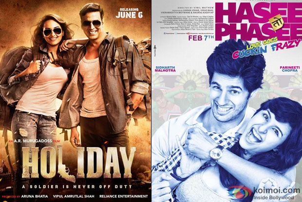 Holiday - A Soldier Is Never Off Duty and Hasee Toh Phasee Movie Poster
