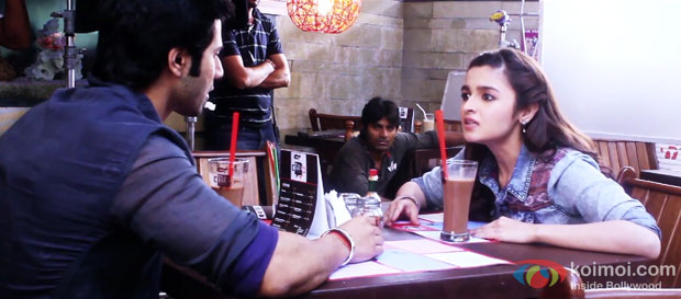 Varun Dhawan and Alia Bhatt on the sets 'Humpty Sharma Ki Dulhania'