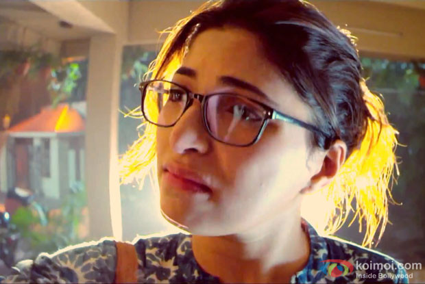 Parvathy Omanakuttan in a still from movie 'Pizza'