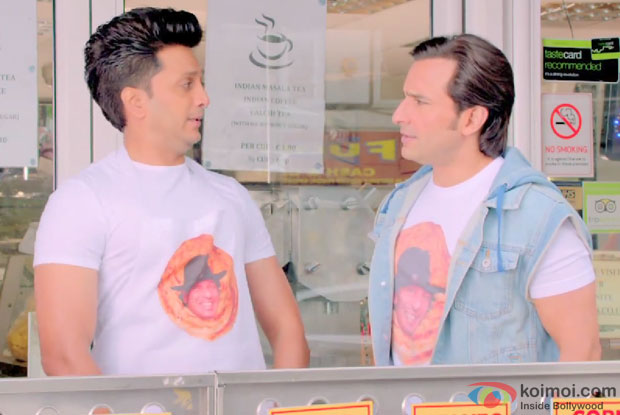 Riteish Deshmukh and Saif Ali Khan in a still from movie 'Humshakals'