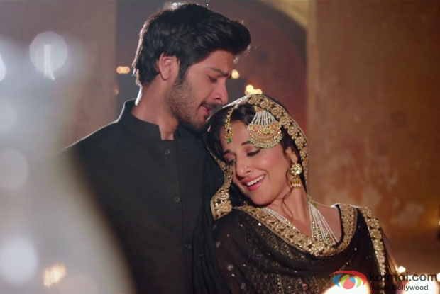 Ali Fazal and Vidya Balan in a 'Tu' song still from movie 'Bobby Jasoos'