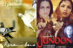 Film Junoon is based on the novel 'A flight of the pigeons' written by Ruskin Bond