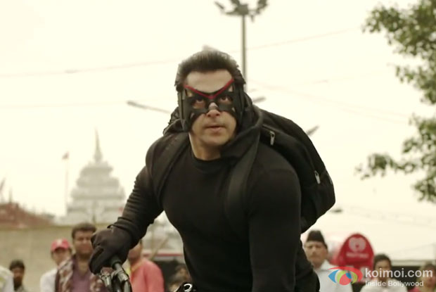 Salman Khan in a still from movie 'Kick'