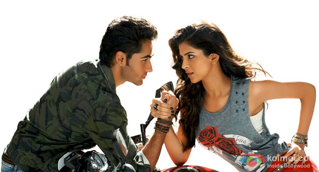 Armaan Jain and Deeksha Seth in a still from movie 'Lekar Hum Deewana Dil'