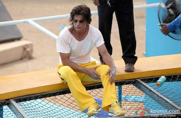 Shah Rukh Khan On The Sets Of Happy New Year