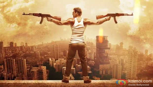 Ajay Devgn in a 'Singham Returns' Movie Motion Poster