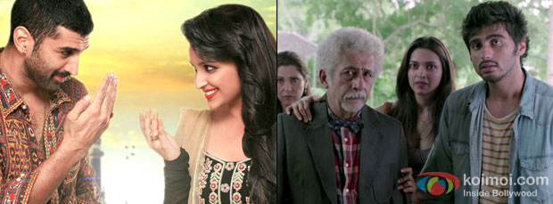 A still from movie Dawaat-E-Ishq and Finding Fanny