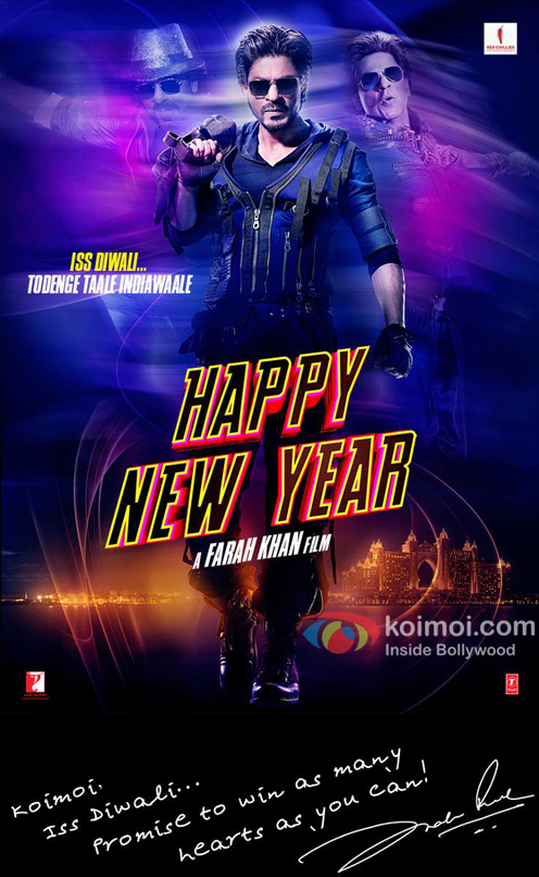 Shah Rukh Khan in 'Happy New Year' Movie Poster