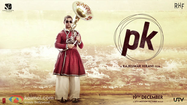 Aamir Khan in a 'PK' Movie Motion Poster