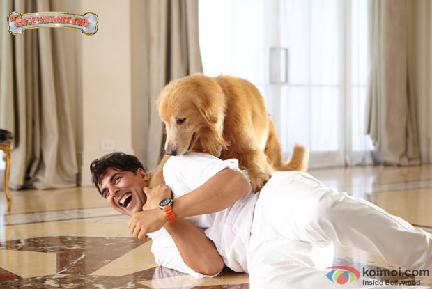 Akshay Kumar in a still from movie 'Entertainment'