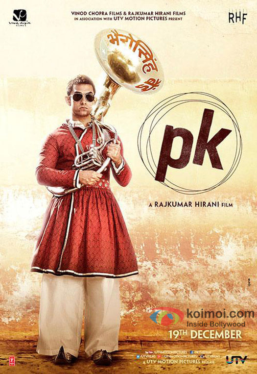 Aamir Khan starrer 'PK' Movie Poster