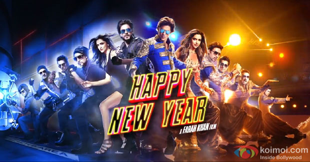 Shah Rukh Khan, Abhishek Bachchan, Boman Irani, Sonu Sood, Deepika Padukone and Vivaan Shah in a 'Happy New Year' Movie Motion Poster