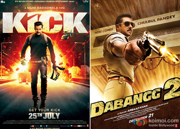 Kick and Dabangg 2 Movie Poster