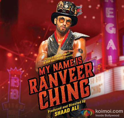 Ranveer Singh in a 'My Name Is Ranveer Ching'  Poster