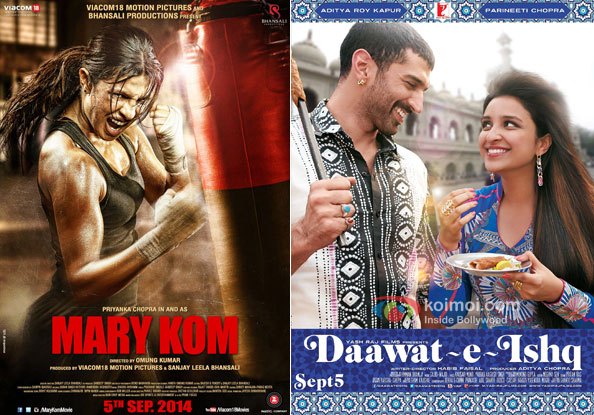 Mary Kom and Daawat-e-Ishq Movie Poster