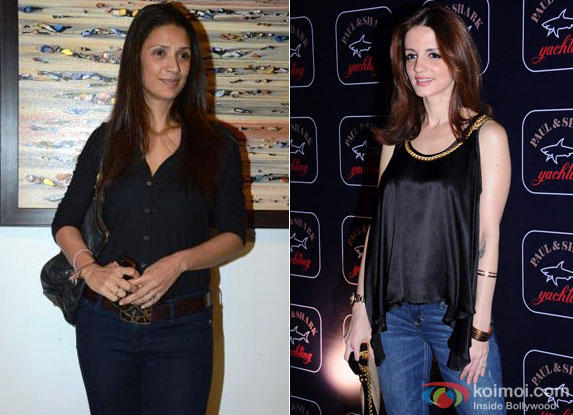 Mehr Jesia Rampal and Sussanne Khan