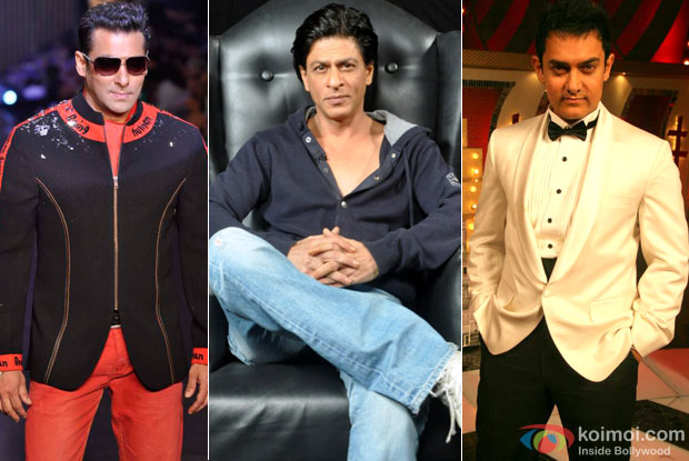 Salman Khan, Shah Rukh Khan and Aamir Khan