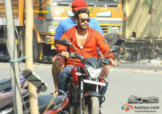 Ajay Devgn on the sets of  movie 'Action Jackson'