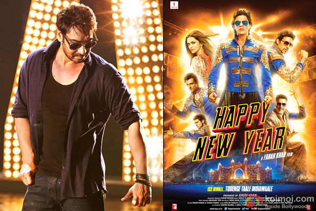 Ajay Devgn and 'Happy New Year' Movie Poster