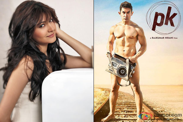 Anushka Sharma and PK Movie Poster