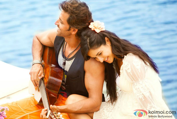 Hrithik Roshan and Katrina Kaif in a 'Meherbaan' song still from movie 'Bang Bang'
