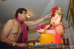 Jeetendra Snapped Performing The Ganpati Puja At His Place