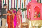 Actor Govinda & Family At Their Ganpati Puja