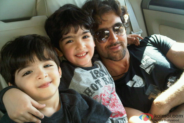Hrithik Roshan with his kids