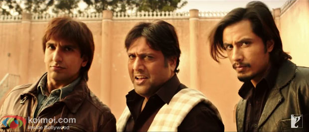 Ranveer Singh, Govinda and Ali Zafar in a still from movie 'Kill Dil'