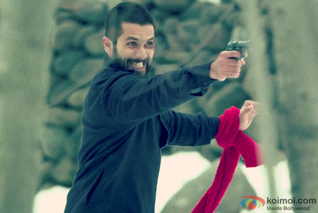 Shahid Kapoor in a still from movie 'Haider'