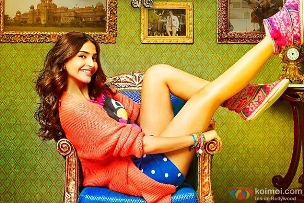 Sonam Kapoor in a still from movie 'Khoobsurat'