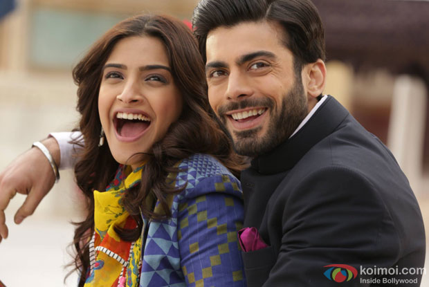 Sonam Kapoor and Fawad Khan in a still from movie 'Khoobsurat'