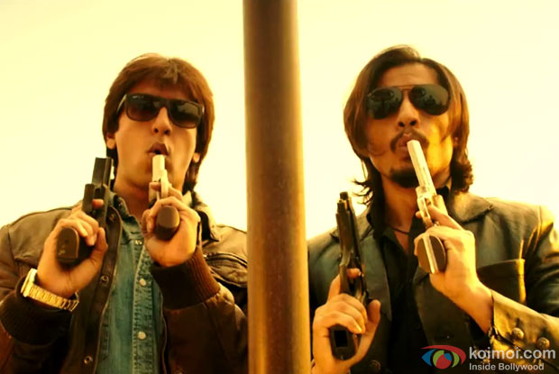 Ranveer Singh and Ali Zafar in a still from movie ' Kill Dil'