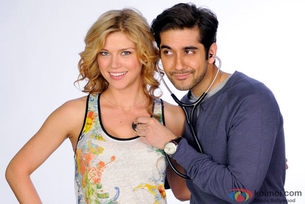 Adrianne Palicki and Vinay Virmani in a still from moive 'Dr. Cabbie'