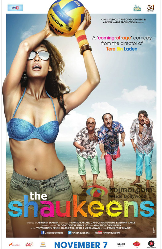 Lisa Haydon in a 'The Shaukeens' movie poster