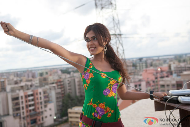 Rhea Chakraborty in a still from movie ' Sonali Cable'