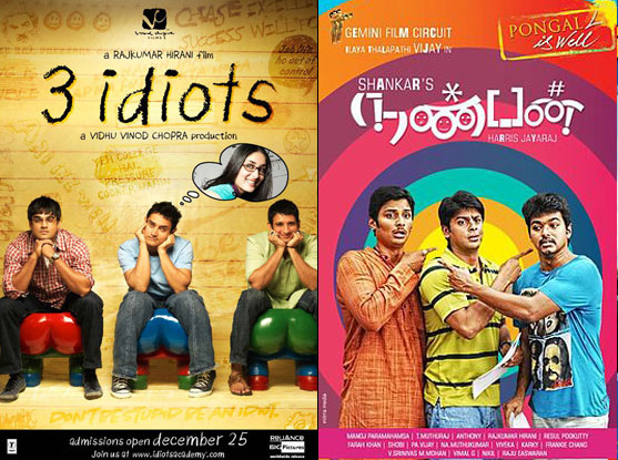 3 Idiots and Nanban (Tamil) Movie Poster