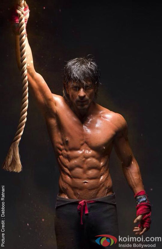 Shah Rukh Khan's 8 Pack Abs Look from Movie 'Happy New Year'