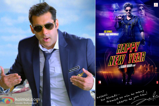 "Salman Khan and ""Happy New Year' movie poster"