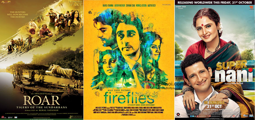 'Roar', 'Fireflies' and 'Super Naani' Movie Posters