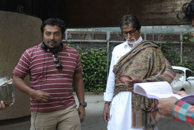 Anurag Kashyap and Amitabh Bachchan on the sets of movie 'Bombay Talkies'