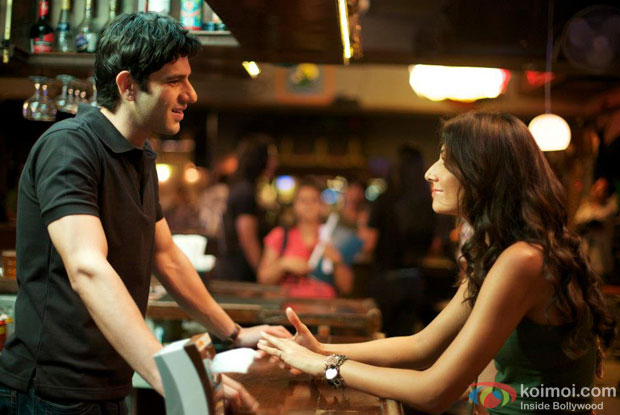 Arjun Mathur and Monica Dogra in a still from movie 'Fireflies'