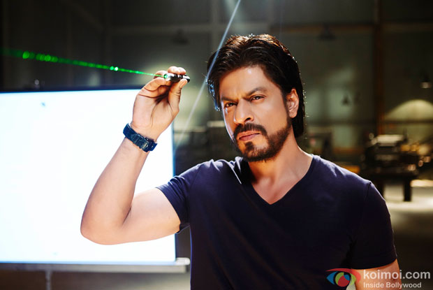 Shah Rukh Khan in a still from movie 'Happy New Year'
