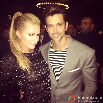 Paris Hilton and Hrithik Roshan