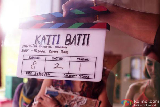 Still from the sets of movie 'Katti Batti'