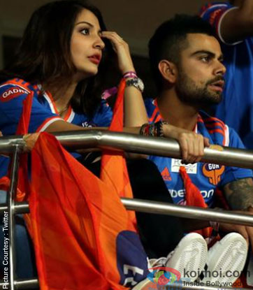 Anushka Sharma and Virat Kohli  at ISL