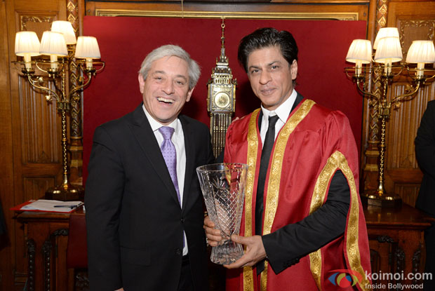 Speaker  Rt Hon John Bercow and Shah Rukh Khan at Britain's House of Commons in London