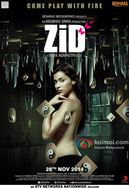 Barbie Handa in a 'Zid' movie poster