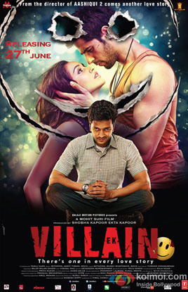 Riteish Deshmukh, Shraddha Kapoor and Sidharth Malhotra in a 'Ek Villain' movie poster
